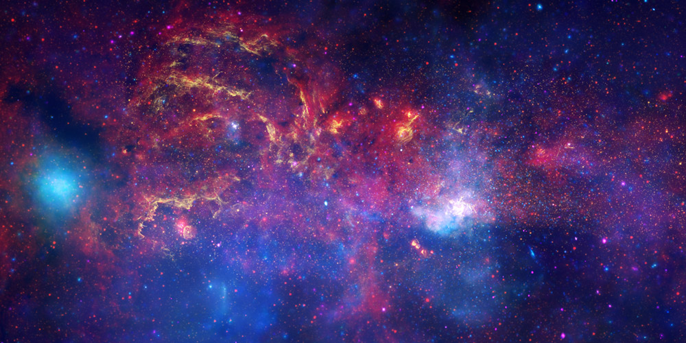 The galaxy from NASA observatories.