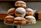 Bowl of sufganiyot (jelly donuts)